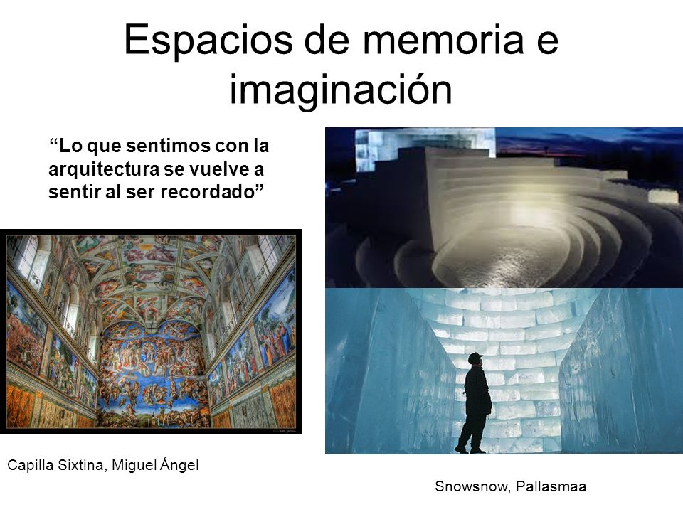 Espacios de memoria e imaginación