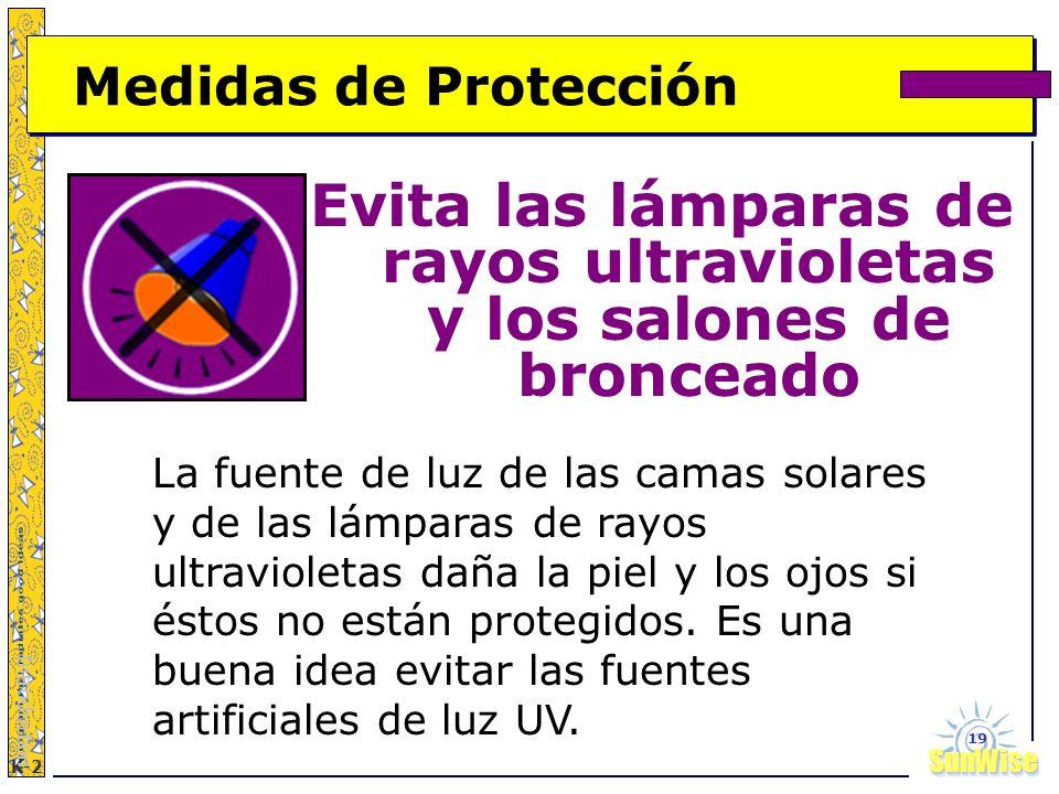 Evita las lámparas de rayos ultravioletas y los salones de bronceado