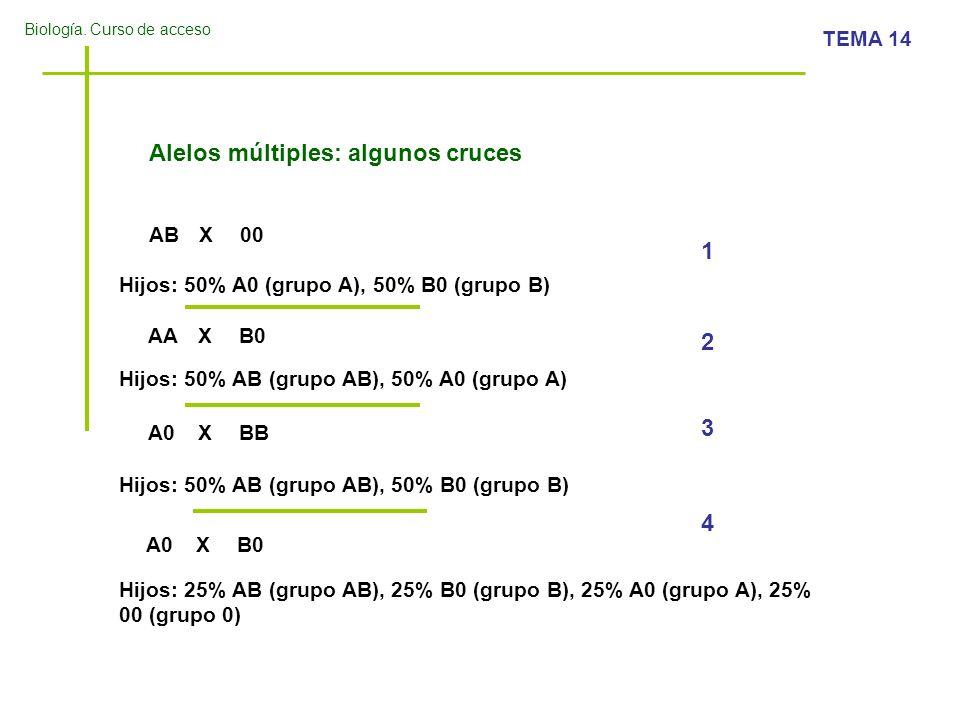 Alelos múltiples: algunos cruces