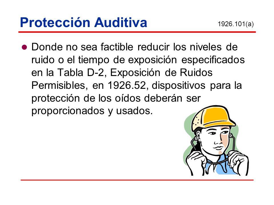 Protección Auditiva 1926.101(a)