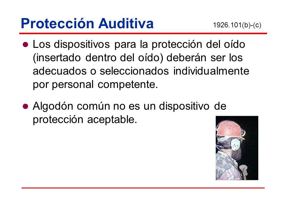 Protección Auditiva 1926.101(b)-(c)