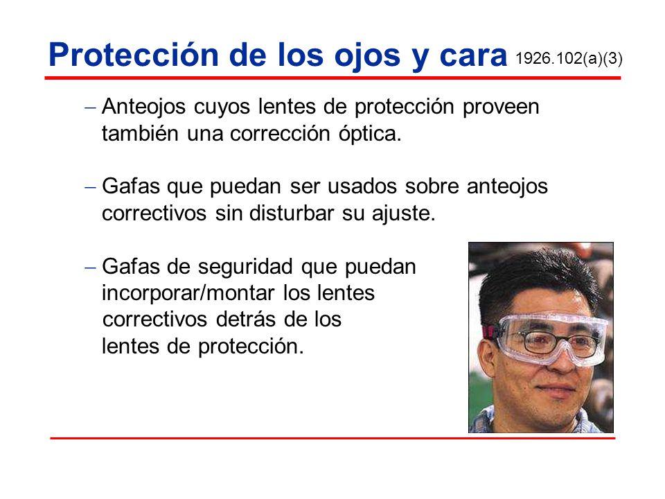 Protección de los ojos y cara