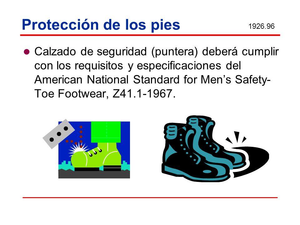 Protección de los pies 1926.96.