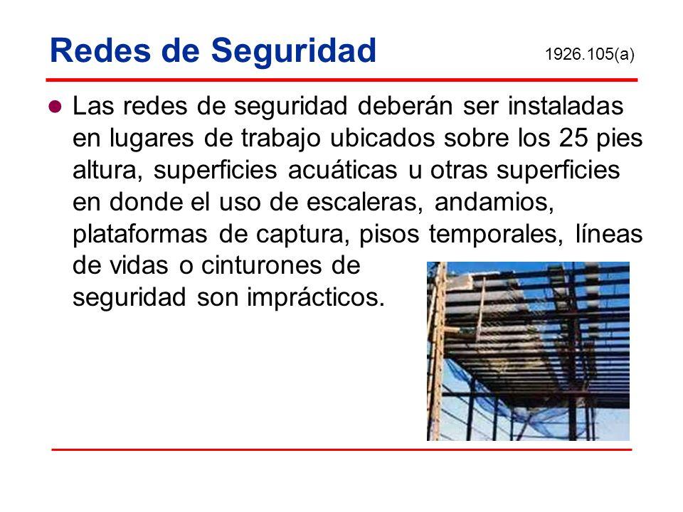 Redes de Seguridad 1926.105(a)
