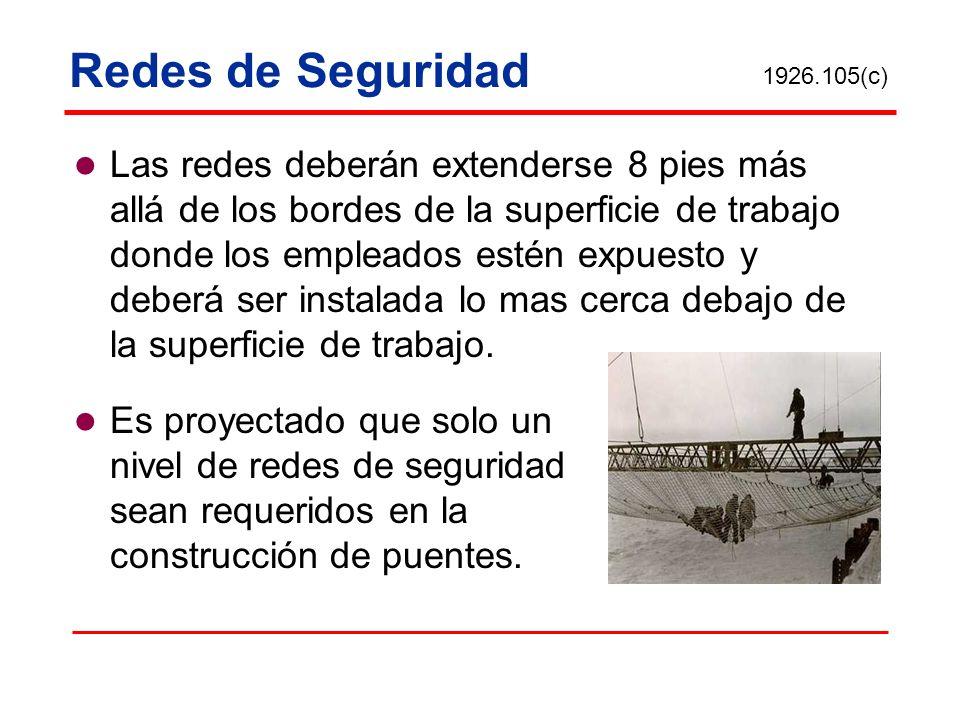 Redes de Seguridad 1926.105(c)