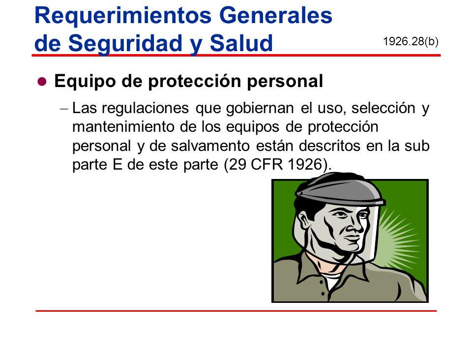 Requerimientos Generales de Seguridad y Salud