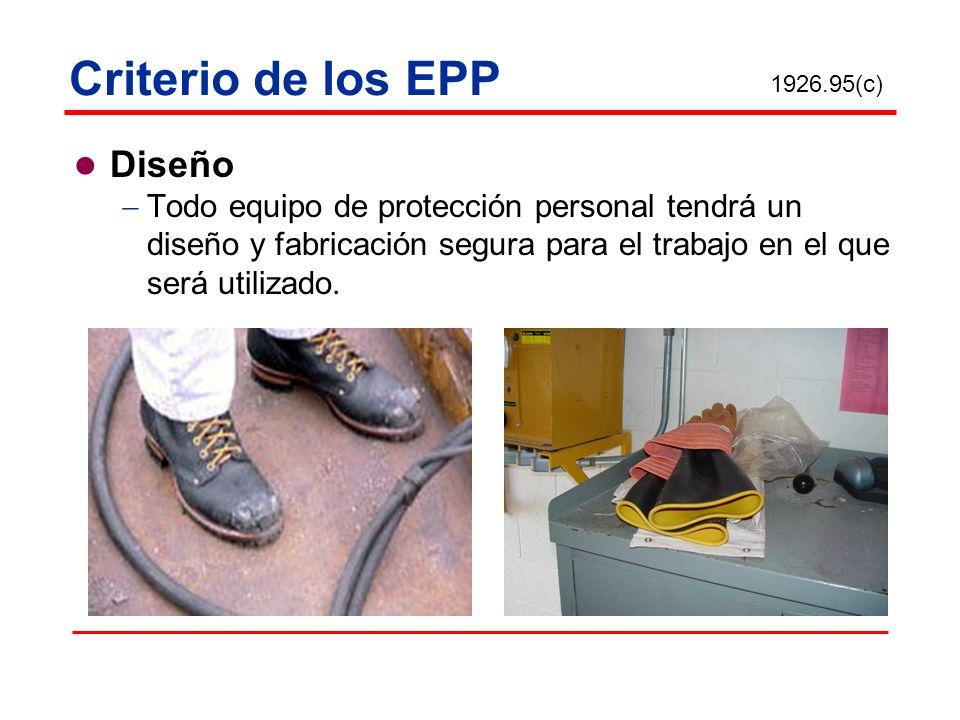 Criterio de los EPP Diseño
