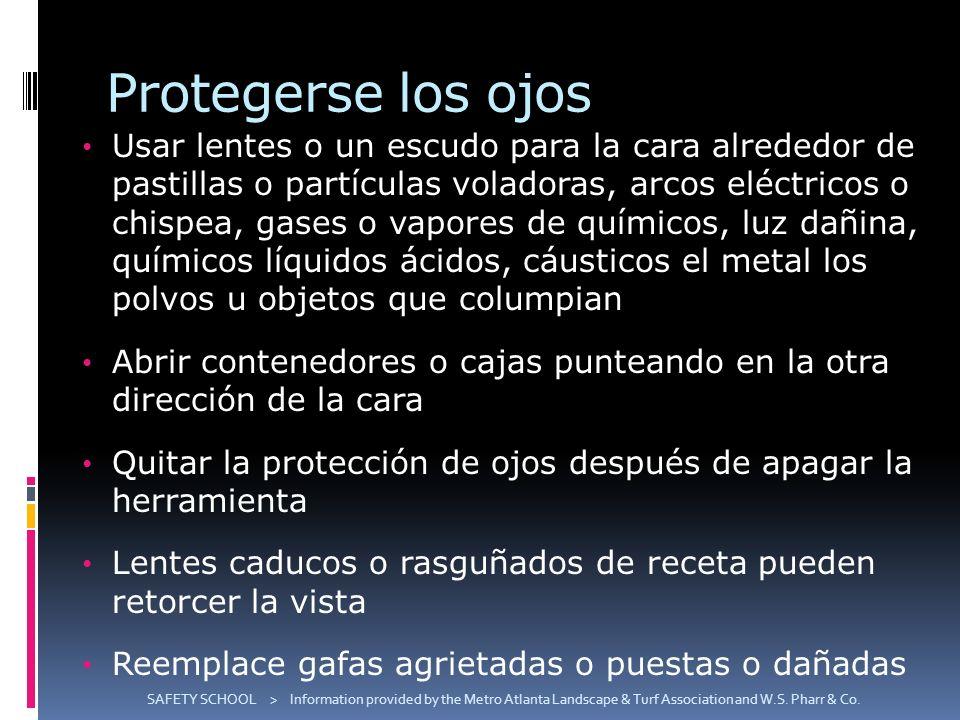 Protegerse los ojos