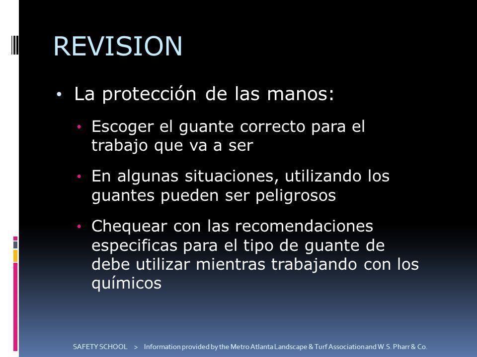 REVISION La protección de las manos:
