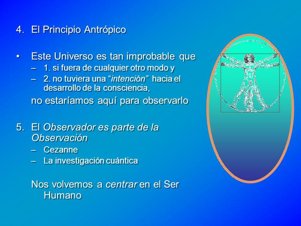 El Principio Antrópico Este Universo es tan improbable que