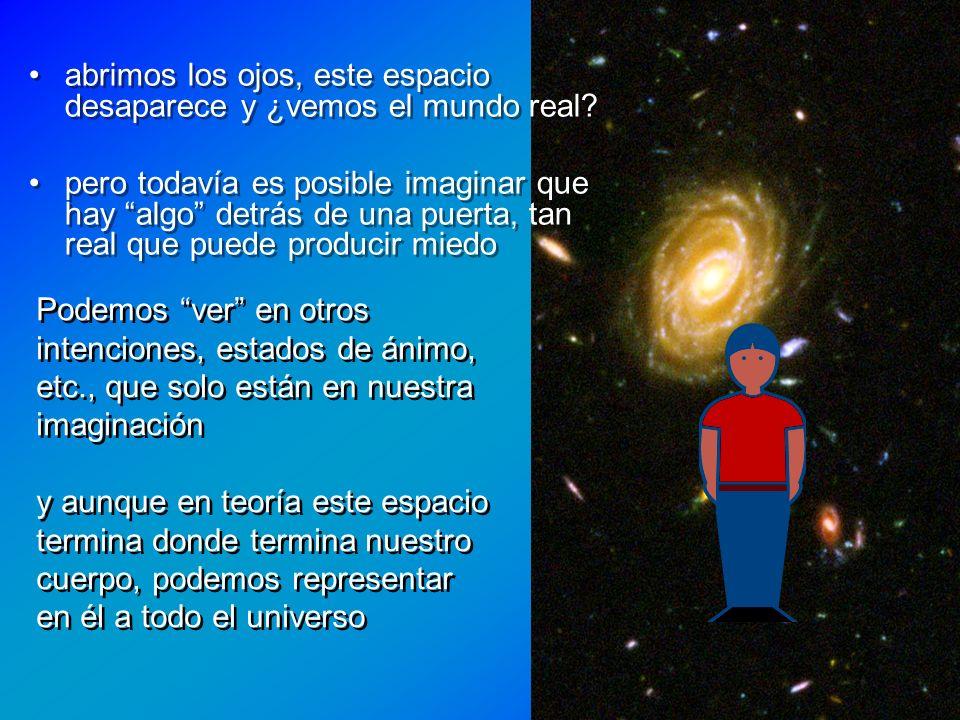 abrimos los ojos, este espacio desaparece y ¿vemos el mundo real