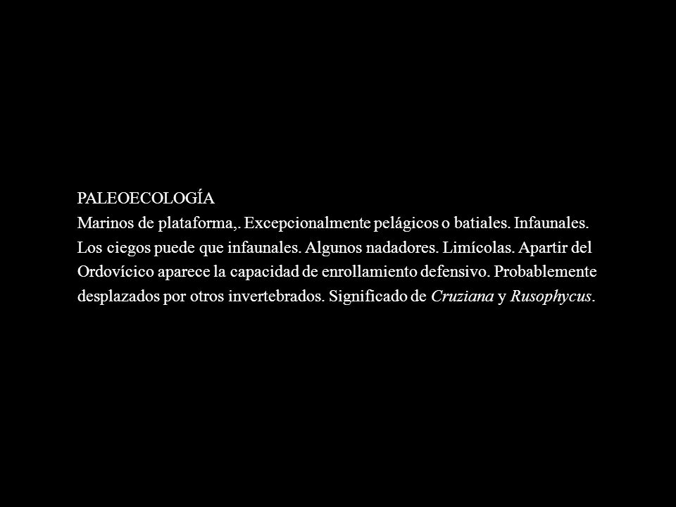 PALEOECOLOGÍA.