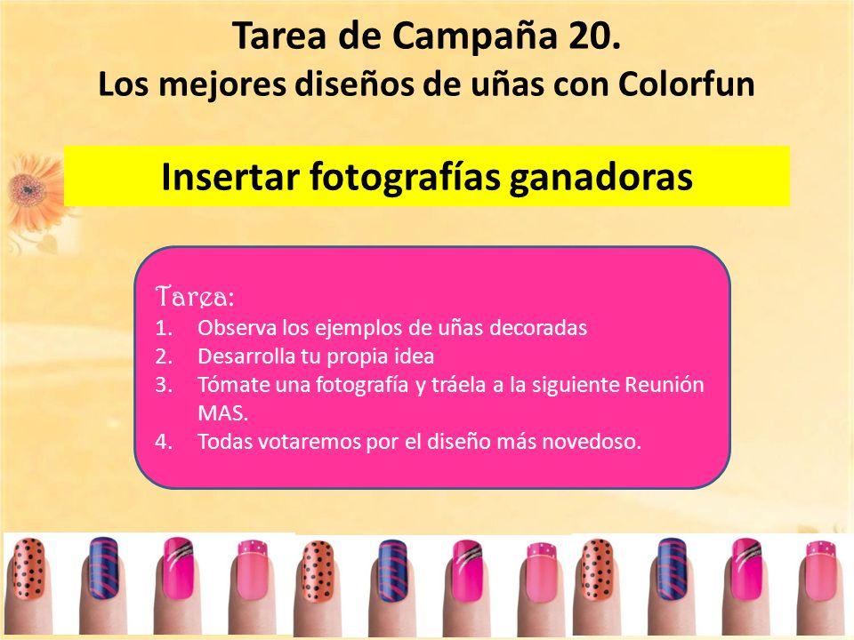 Tarea de Campaña 20. Insertar fotografías ganadoras