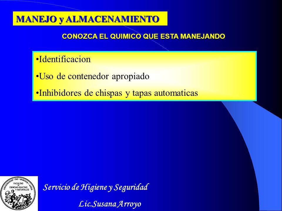 CONOZCA EL QUIMICO QUE ESTA MANEJANDO