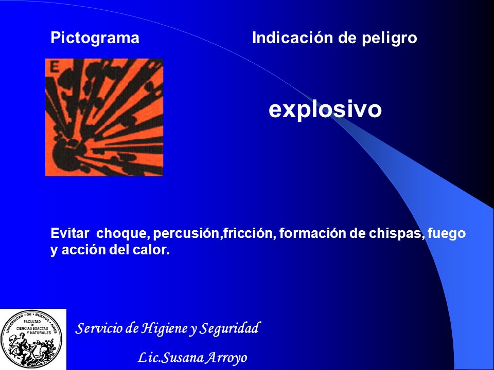 explosivo Pictograma Indicación de peligro