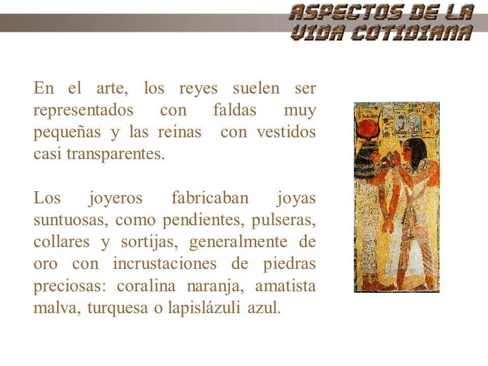 En el arte, los reyes suelen ser representados con faldas muy pequeñas y las reinas con vestidos casi transparentes.