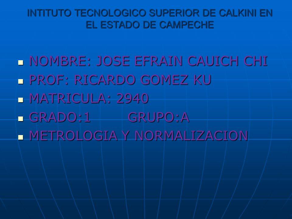 INTITUTO TECNOLOGICO SUPERIOR DE CALKINI EN EL ESTADO DE CAMPECHE