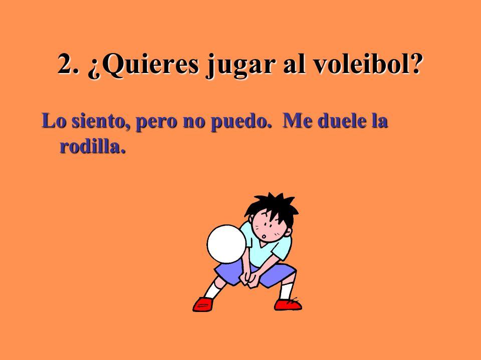 2. ¿Quieres jugar al voleibol
