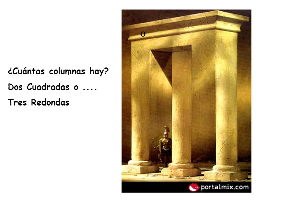 º ¿Cuántas columnas hay Dos Cuadradas o .... Tres Redondas