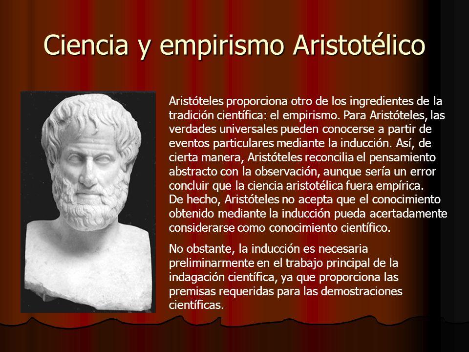Ciencia y empirismo Aristotélico