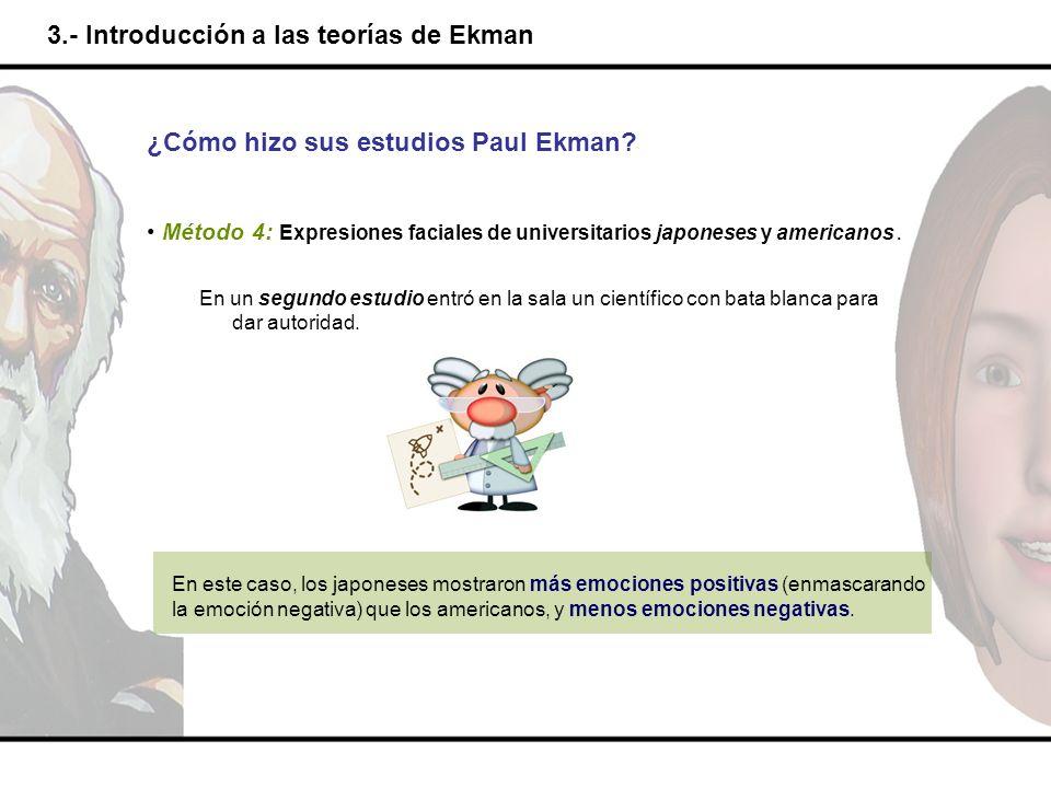 3.- Introducción a las teorías de Ekman