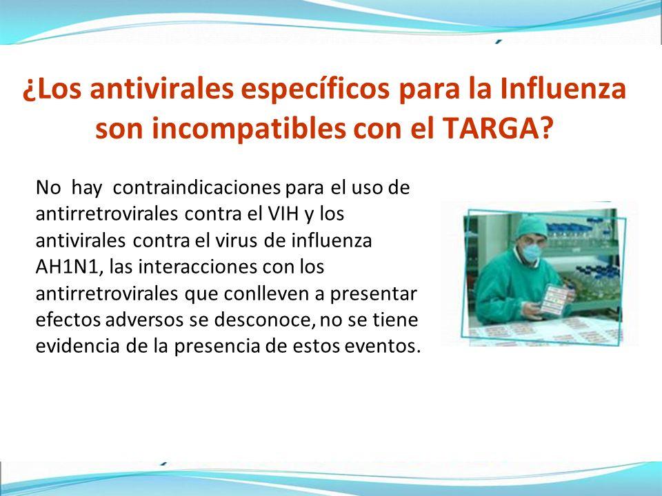 ¿Los antivirales específicos para la Influenza son incompatibles con el TARGA