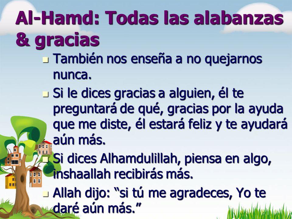 Al-Hamd: Todas las alabanzas & gracias