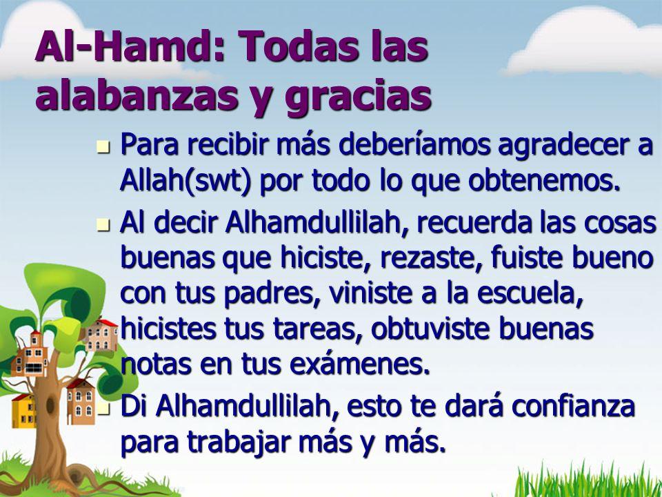 Al-Hamd: Todas las alabanzas y gracias
