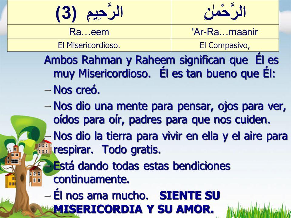 Ar-Rahmaan & Ar-Raheem