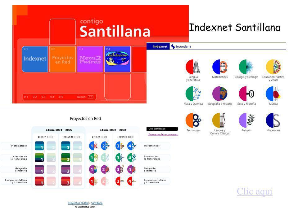 Indexnet Santillana Clic aquí
