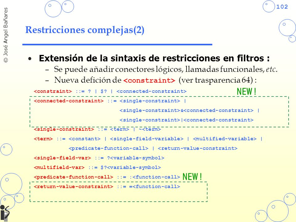 Restricciones complejas(2)