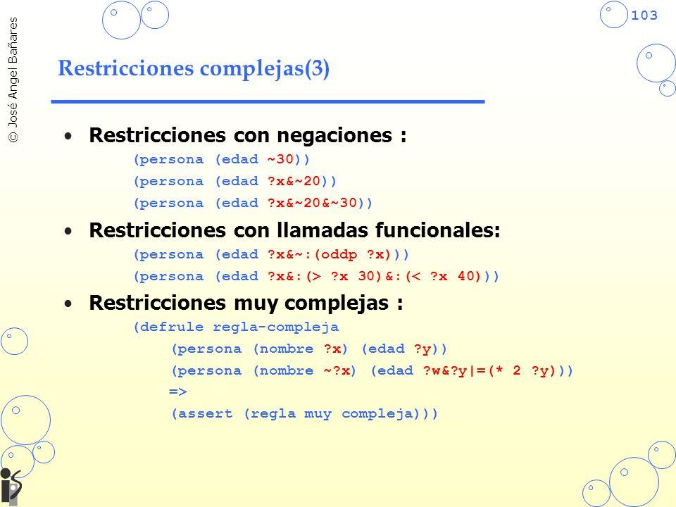 Restricciones complejas(3)