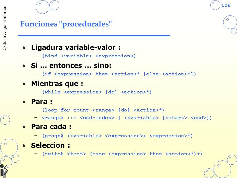 Funciones procedurales