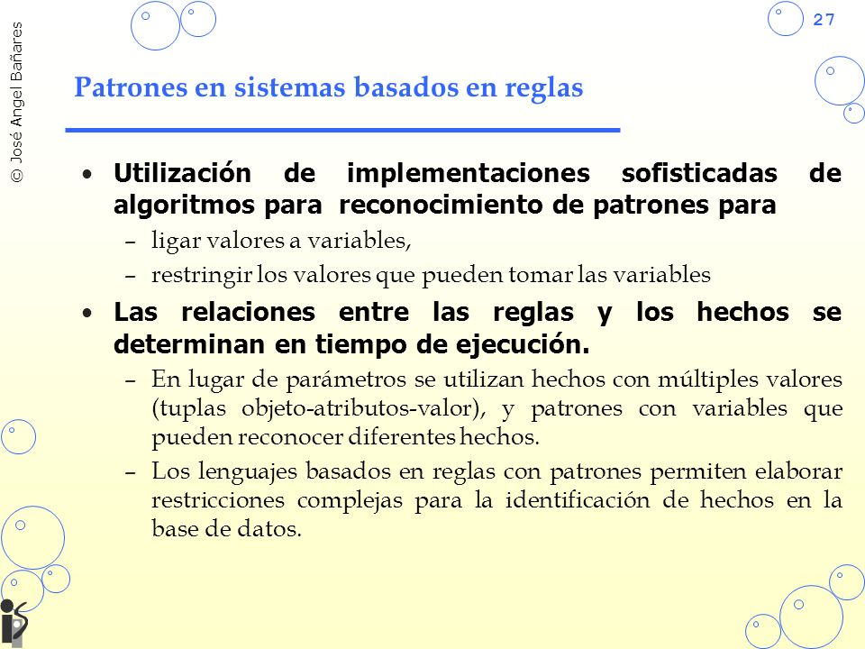 Patrones en sistemas basados en reglas