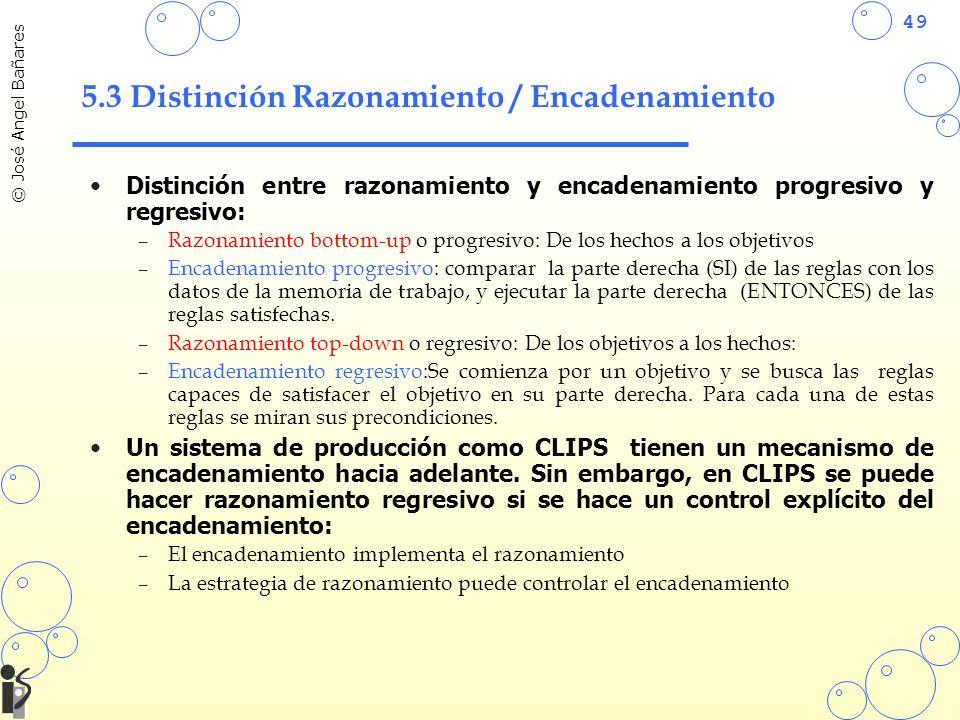 5.3 Distinción Razonamiento / Encadenamiento