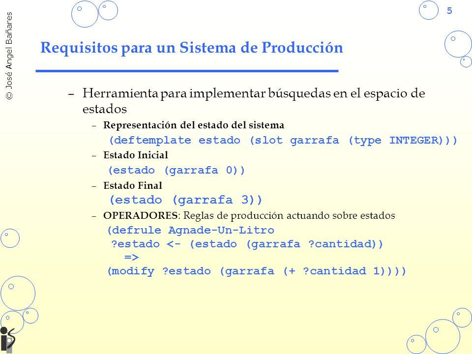Requisitos para un Sistema de Producción