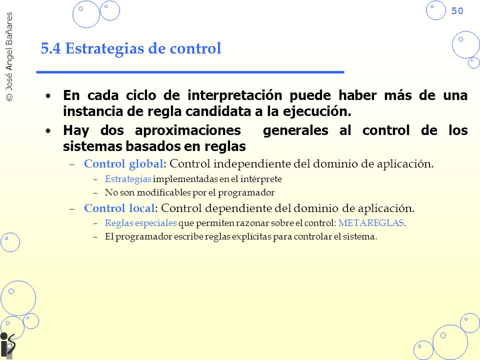 5.4 Estrategias de control