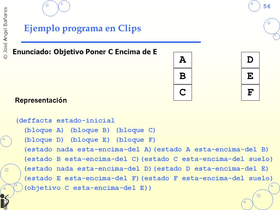Ejemplo programa en Clips