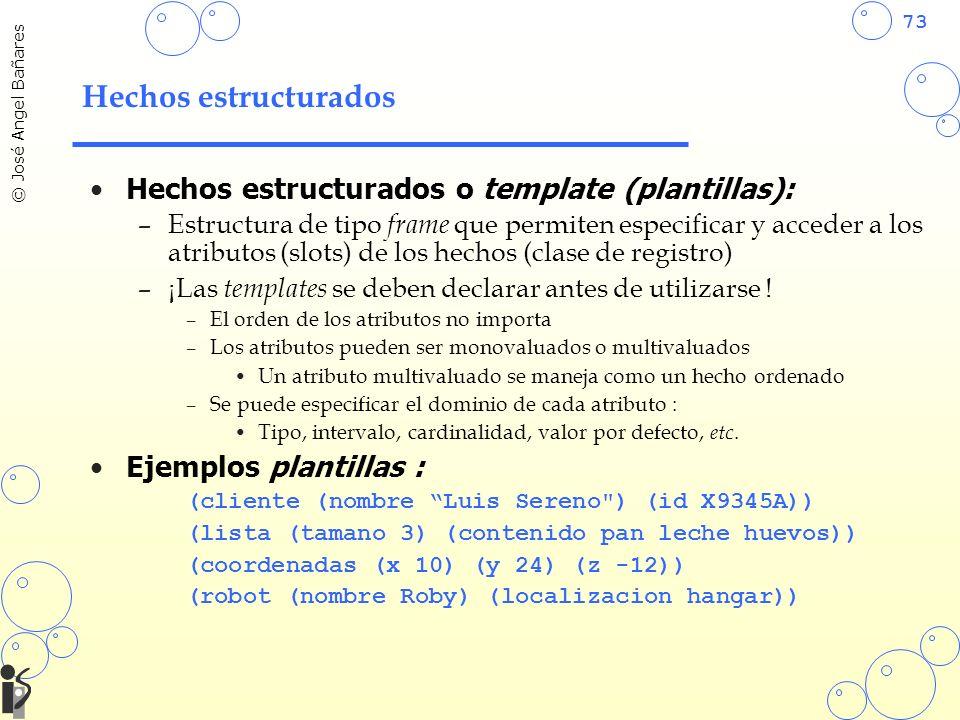 Hechos estructurados Hechos estructurados o template (plantillas):