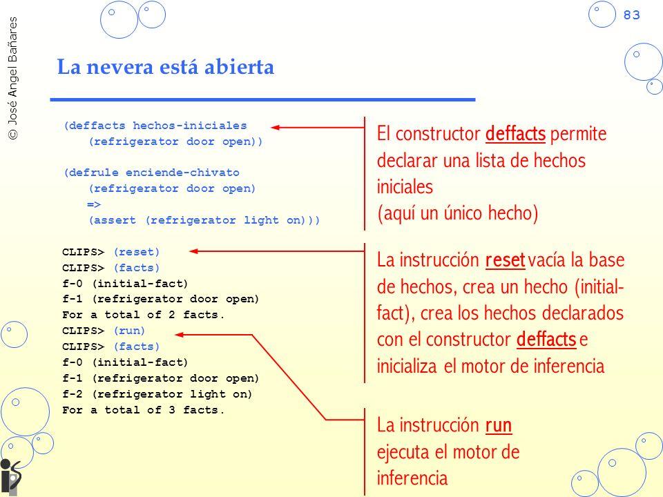 El constructor deffacts permite declarar una lista de hechos iniciales