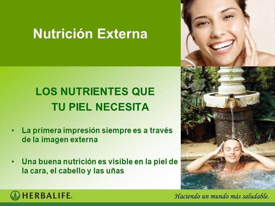 Nutrición Externa LOS NUTRIENTES QUE TU PIEL NECESITA