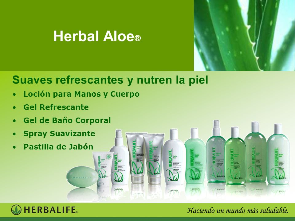Herbal Aloe® Suaves refrescantes y nutren la piel