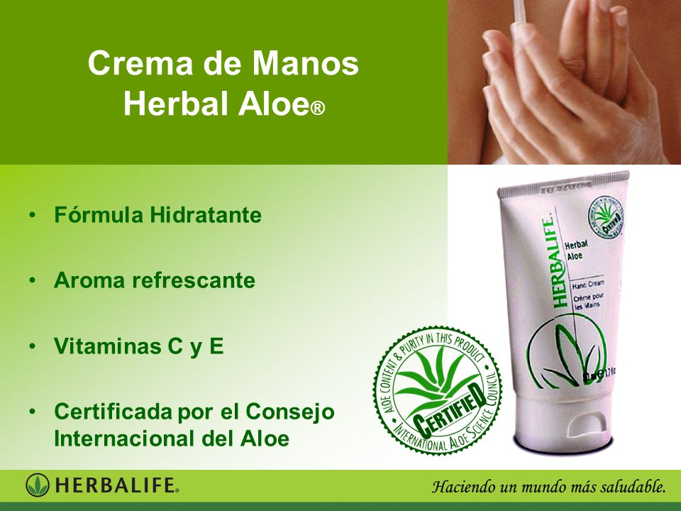 Crema de Manos Herbal Aloe®