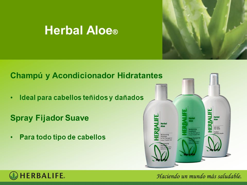 Herbal Aloe® Champú y Acondicionador Hidratantes Spray Fijador Suave