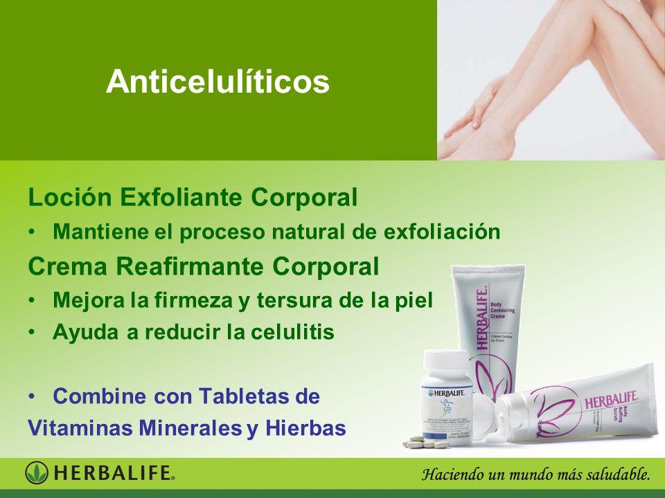 Anticelulíticos Loción Exfoliante Corporal Crema Reafirmante Corporal