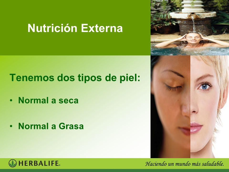 Nutrición Externa Tenemos dos tipos de piel: Normal a seca