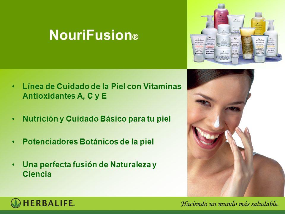 NouriFusion® Línea de Cuidado de la Piel con Vitaminas Antioxidantes A, C y E. Nutrición y Cuidado Básico para tu piel.