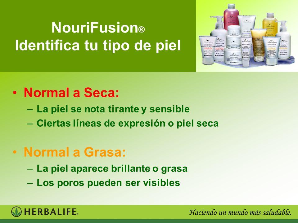 NouriFusion® Identifica tu tipo de piel