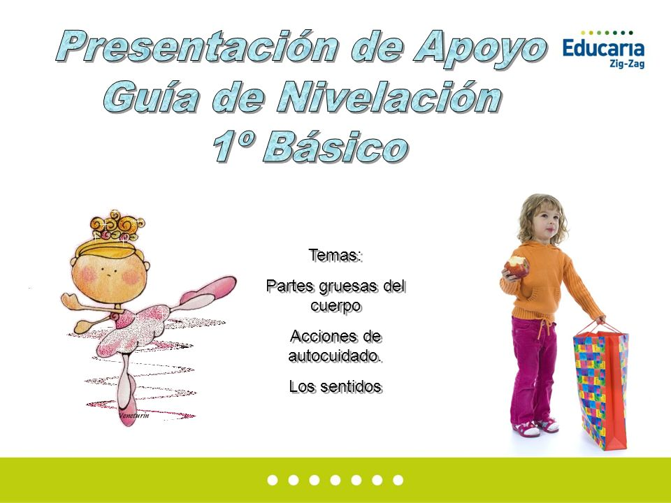 Presentación de Apoyo Guía de Nivelación 1º Básico Temas: