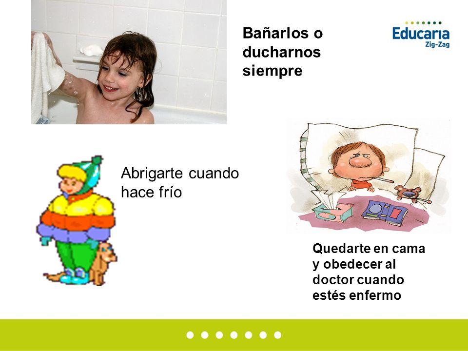 Bañarlos o ducharnos siempre